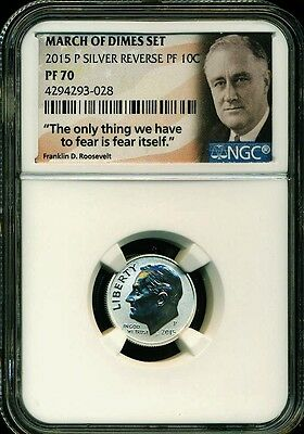 2015 P Silver Roosevelt Reverse Proof Dime Ngc Pf70 From March Of Dimes Set