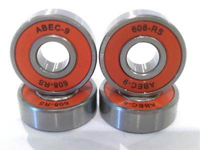 Red Abec 9 608 Rs Wheel Bearings For Skateboard Stunt Scooter Spares Parts 11 Nr