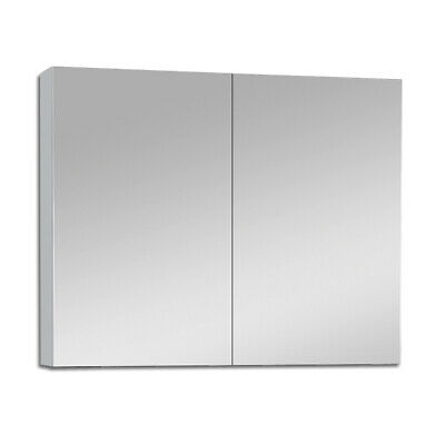 900Mm X 720Mm Bathroom Vanity Mirror Cabinet Shaving White Pencil Edge Pemc900
