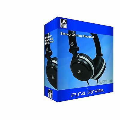Officially Licensed Stereo Gaming Headset Starter Kit for Sony Playstation 4 PS4
