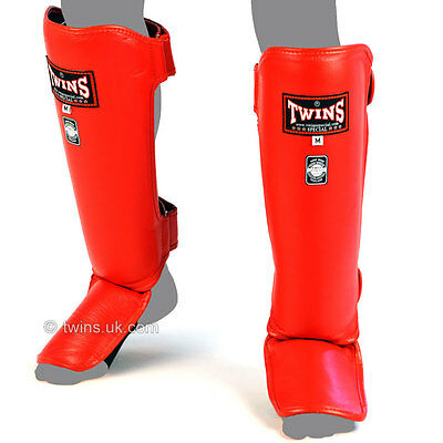 Twins Special Shin Guards Pads Muay Thai Shinguards Kickboxing Slim Adult Mens