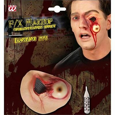 Halloween Latex Hanging Eye Wound Eyeball Prosthetic Special Fx Fancy Dress