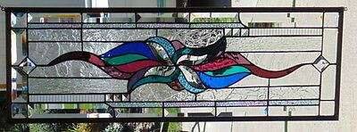 Stained Glass Window Hanging 31 7/8 x 10 7/8""