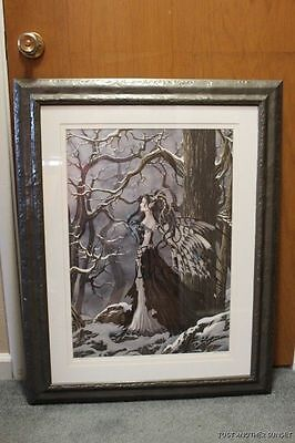 Nene Thomas Hope Limited Edition LE Signed Print Framed Fairy Faery Winter