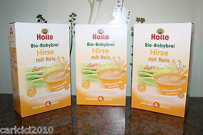 FREE EXPEDITED SHIP! 3 BOXES Holle Organic Millet Rice Cereal Porridge Baby Food