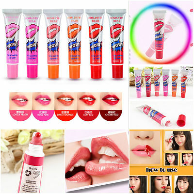 DIY Waterproof Peel Off Mask Tint Pack TATTOO Lip Gloss Long Lasting Lipstick