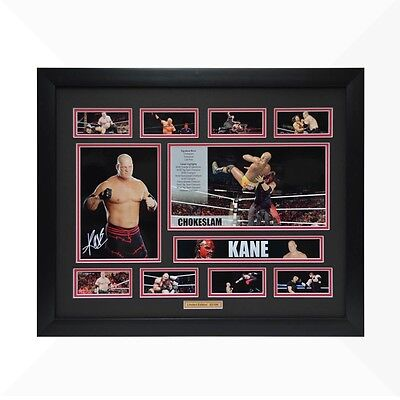 Kane WWE Signed & Framed Memorabilia - Black/Red Limited Edition