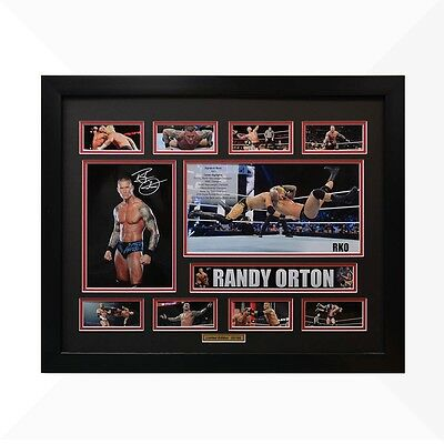 Randy Orton WWE Signed & Framed Memorabilia - Black/Red Limited Edition