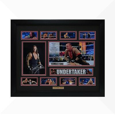 Undertaker WWE Signed & Framed Memorabilia - Black/Red Limited Edition