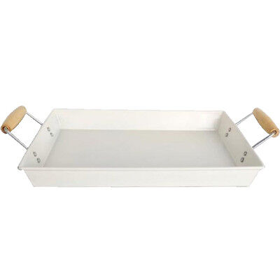 35Cm Serving Tray With Handles Breakfast Food Kitchen Metal Eating Dining New