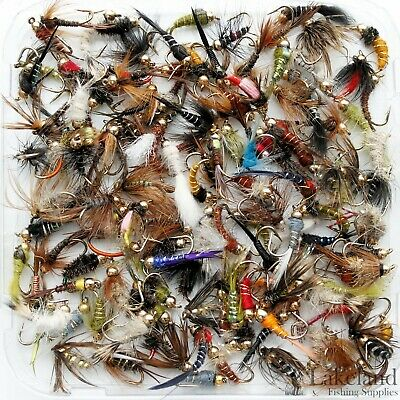 Assortment Mix Gold Headed Nymph Trout Fly Fishing Flies Qty's 10 25 50 100