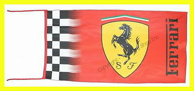 Ferrari Red Flag Banner Checkered Official Design