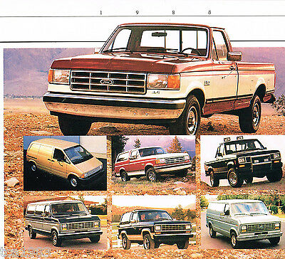 1988 FORD Truck Brochure / Catalog: PickUp,RANGER,BRONCO,VAN,II,2,F-150, Series