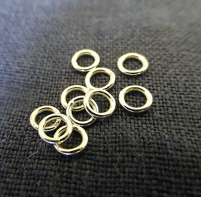 Sterling Silver  4mm Closed Jump Rings x 20