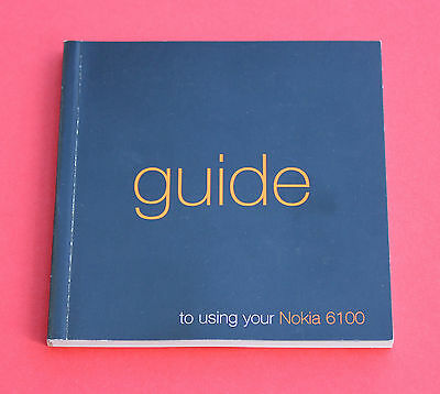 """NOKIA 6100 User Guide """"USED"""""""