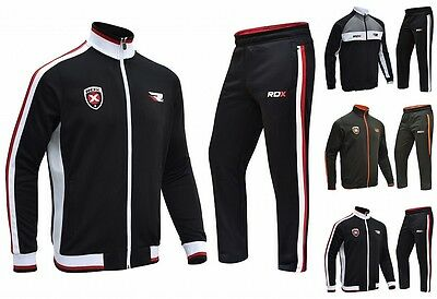 RDX Mens Tracksuit Jumper Jogging SweatShirt Trouser MMA Pant Boxing Gym Top CA