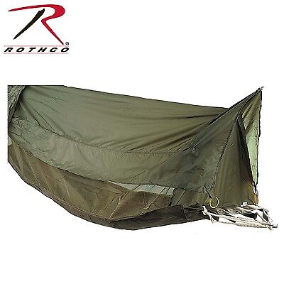 Rothco US GI Canvas Jungle Hammock with Mosquito Net Military Bushcraft Green