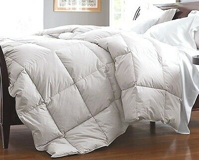 22574b233e King White Down Feather Comforter Bedding Blanket Heavy Fill Baffle Box 90 oz  FP