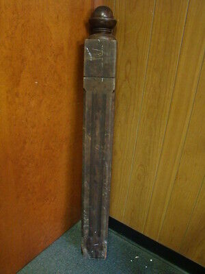 Vintage - Antique Wooden Newel Stairway Post - Architectural Salvage - Garden a