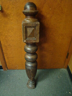 Vintage - Antique Wooden Newel Stairway Post - Architectural Salvage - Garden c