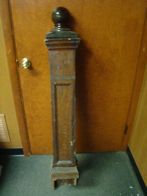 Vintage - Antique Wooden Newel Stairway Post - Architectural Salvage - TIGER OAK