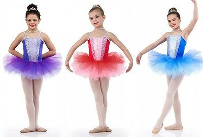 Colors Of Love Ballet Tutu Ballerina Purple,Red,Blue Dance Costume Child & Adult