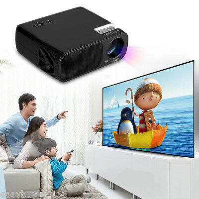 2600 Lumens HD Home Theater Multimedia LED Projector Support 1080P 3D HDMI ATV
