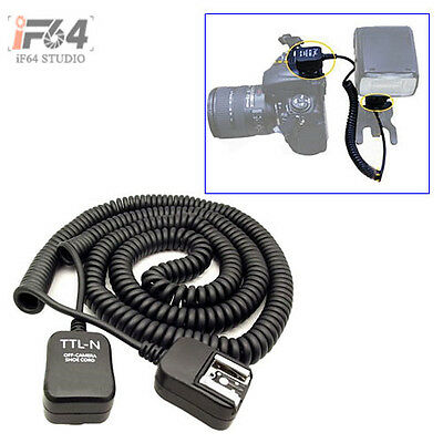 10M TTL Off Camera Flash 2 Hot Shoe Sync Extension Cable Cord f Nikon Speedlite