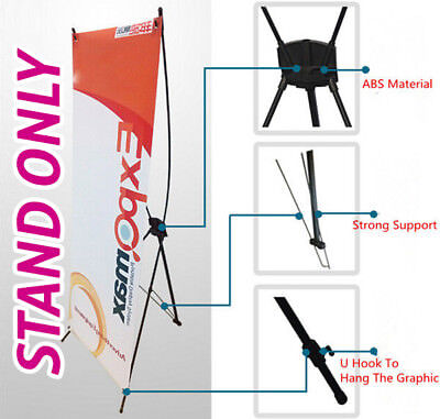 X Display Stand For Banner 80cm x 180cm Pop up Exhibition Display Portable Frame