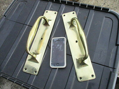 Antique Brass Door Handles Pulls Architectural Salvage Public Building Vintage