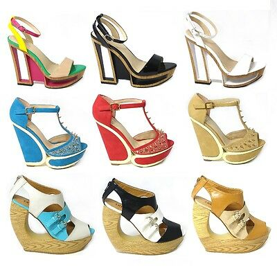 09eb531463 New Womens Ladies Mary Jane Platform High Heel Demi Wedge Party Shoes Size 3 -8