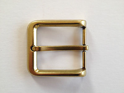 "Belt Buckle - Chrome Brass Pin Style Buckle To Suit 1.5"" Snap On Belt"
