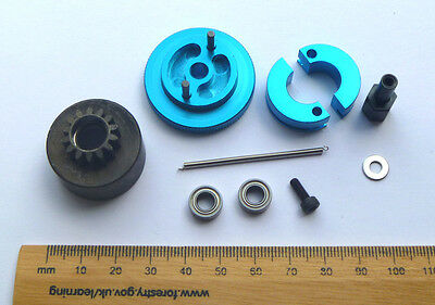 Clutch & Flywheel kit for 1/10 RC Nitro Buggy/Car 14T Alloy Shoes/Bearings HSP
