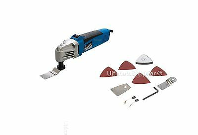 Silverline Oscillating Multi-Tool c/w Sawing Sanding Scraping Accessories 260W