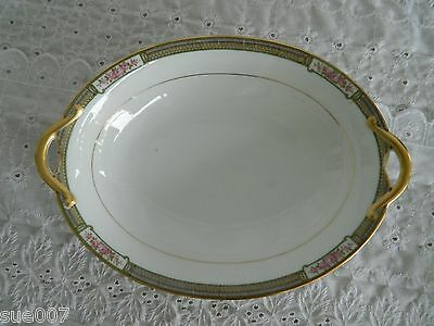 Vintage Kingston Noritake Handled Oval Serving Bowl Vegetable Fine China Japan