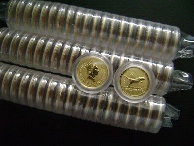 Australian Perth Mint $5 Lunar 1998 Year Of The Tiger 1/20 oz .999 Gold Series 1