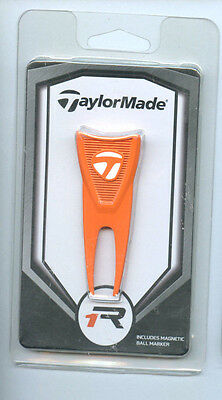 Taylormade R1 Divot Repair Tool & Removable Ball Marker Orange N2338901 NEW