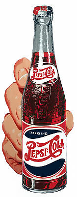 "4"" Pepsi Bottel In Hand Decal Sticker Gumball Machine"