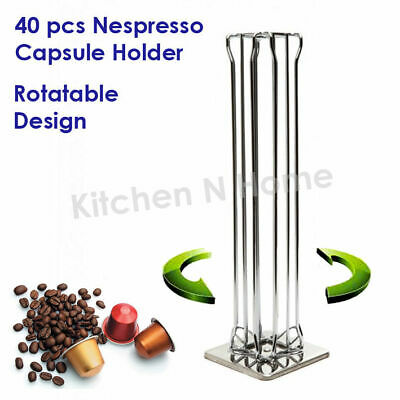 60pcs Coffee Capsule Holder,Nespresso Caps Pods Dispenser, Storage Rack