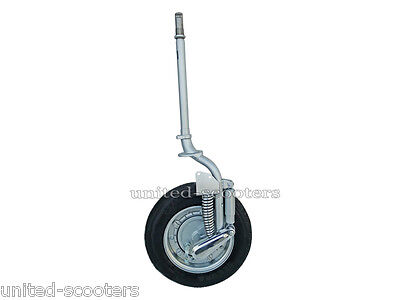 Vespa Vlb Complete Front Fork With 10 Inches Wheel And Tyre Brand New V1140