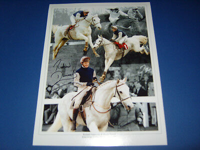 Richard Dunwoody Desert Orchid Horse Racing Legend signed photo montage AFTAL