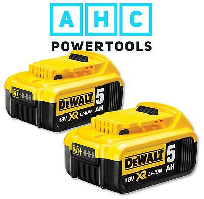 2 x Dewalt DCB184 18V XR li-ion Battery 5Ah