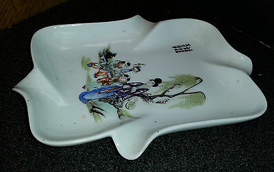 Ancien Cendrier Vide Poche Talbotier Marmande Porcelaine Decor Chine Asiatique
