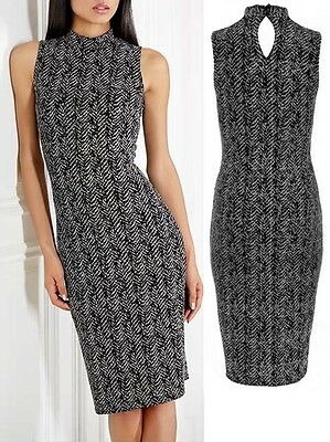 Ladies Womens QUIZ Black & Stone Glitter Tuttle Neck Party Evening Dress RRP £29