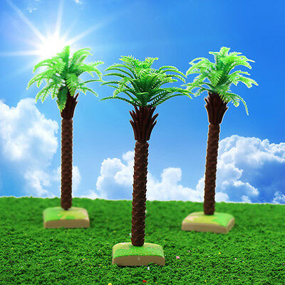 YS11 10PCS 6.3'' Model Palm Trees  Sago Cycas Model Layout Train Scale 1/25 G HO