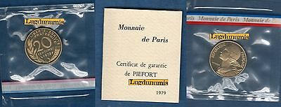 Piéfort - 20 Centimes Marianne 1979 RARE 300 Exemplaires FDC PIEFORT