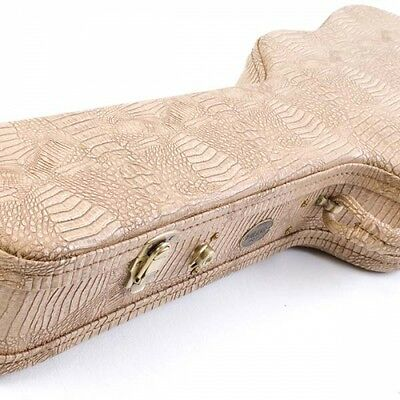 Turner Deluxe Jumbo Guitar Case - Crocodile Skin Grain