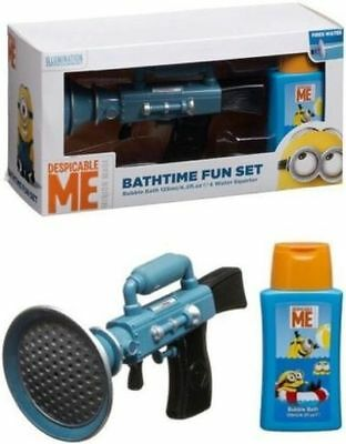 Despicable Me Minions bathtime fun gift set bubble bath & water squirter gun