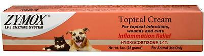 ZYMOX Topical Cream Hydrocortisone 1 % Dog Cat Topical infections wounds & cuts