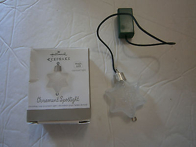Hallmark Keepsake 2013 Christmas Ornament Spotlight Star Magic Cord Constant